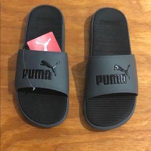 762780affb3bbe Puma Gray slides